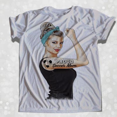 GIRL POWER - SOCCER MOM PERSONALIZED GIRL BOSS FULL COLOR TSHIRT/TANK TOP