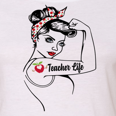 "GIRL POWER - TEACHER LIFE ""GIRL POWER"" GRAPHIC SHIRT"