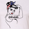 "GIRL POWER - UNBREAKABLE PATRIOTIC ""GIRL POWER"" ATHLETIC GRAPHIC SHIRT"