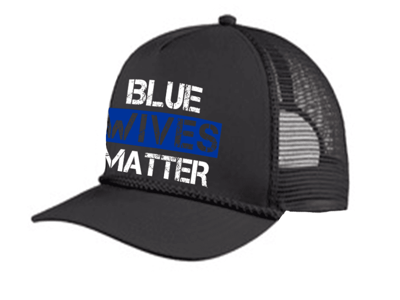HAT - BLUE WIVES MATTER TRUCKER 5 PANEL CAP