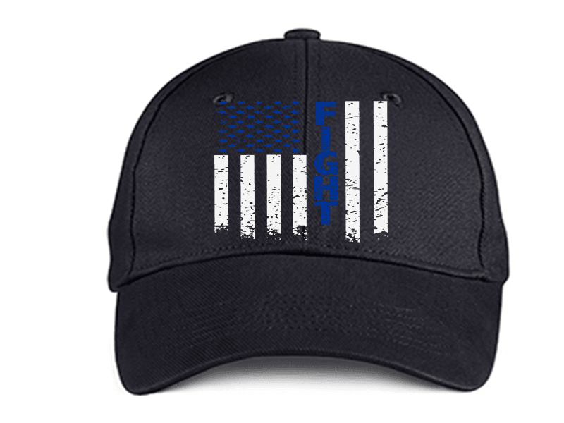 FIGHT FLAG POLICE DAD HAT
