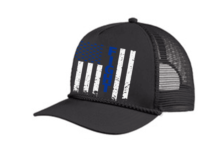 FIGHT FLAG POLICE TRUCKER 5 PANEL CAP