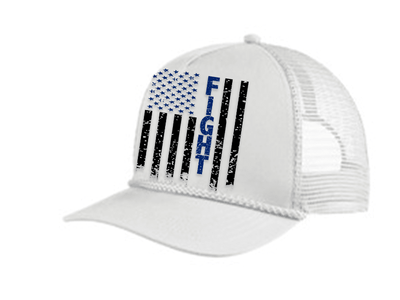 HAT - FIGHT FLAG POLICE TRUCKER 5 PANEL CAP