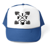 "HAT - ""FIT"" BARBELL GRAPHIC ATHLETIC TRUCKER STYLE  HAT"