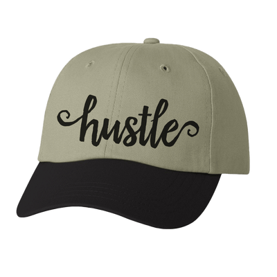 HAT - HUSTLE LADIES SCRIPT DAD STYLE HAT
