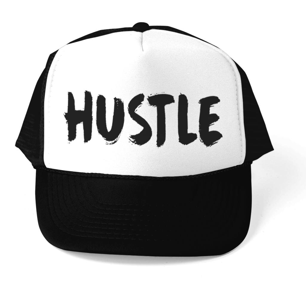 HUSTLE TRUCKER 5 PANEL CAP