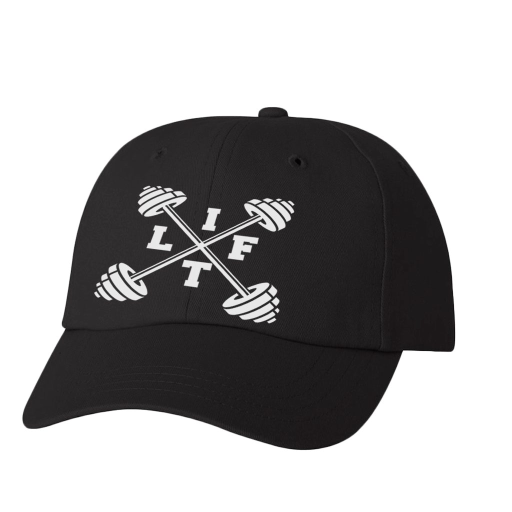 "HAT - ""LIFT"" BARBELL GRAPHIC ATHLETIC STYLE DAD HAT"