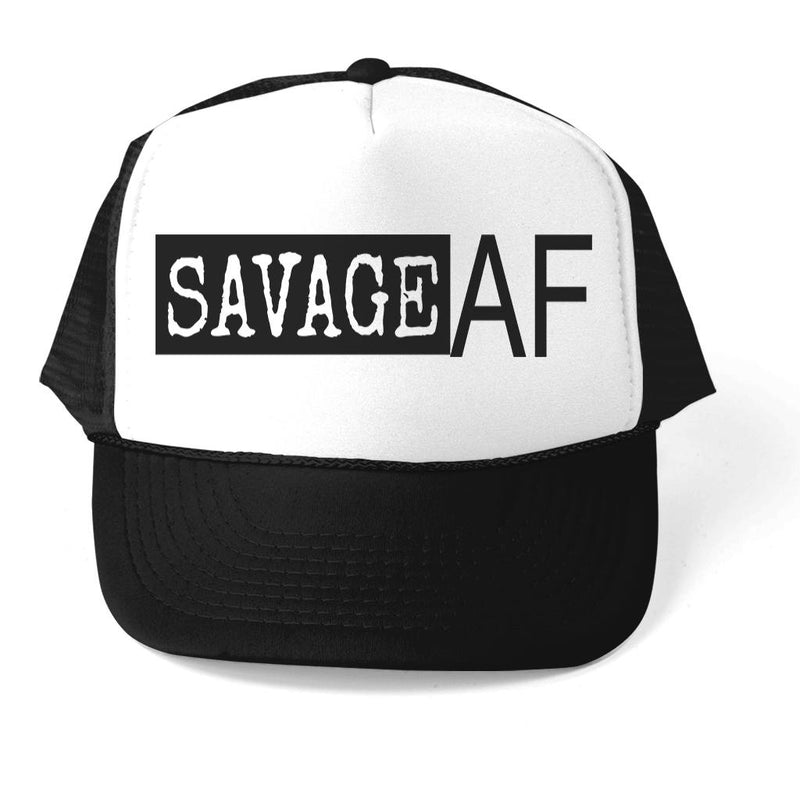 SAVAGE AF ATHLETIC TRUCKER STYLE  HAT