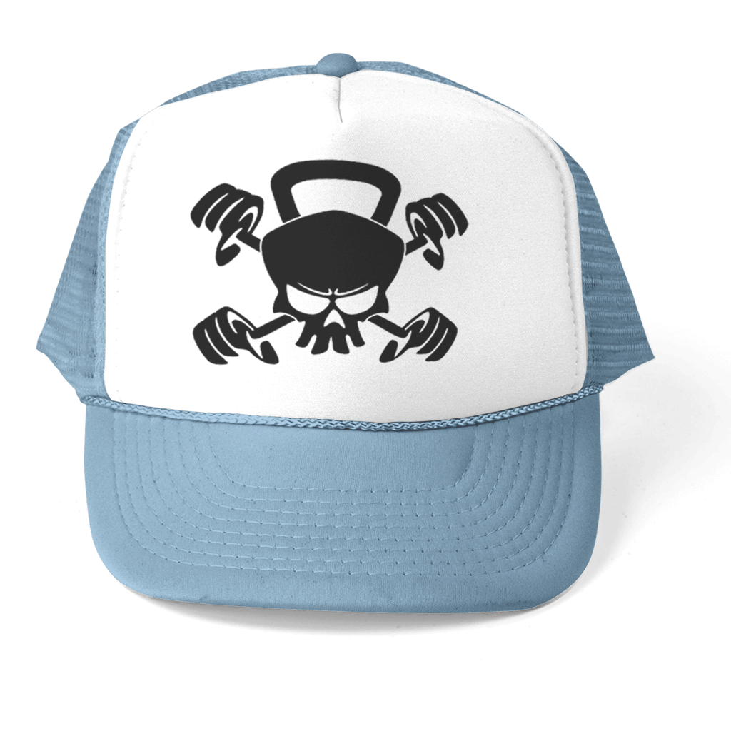 "HAT - SKULL ""CROSSFIT"" ATHLETIC TRUCKER STYLE  HAT"