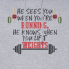 HOLIDAY DESIGN - HE SEES YOU WHEN YOU'RE RUNNING HOLIDAY SHIRT