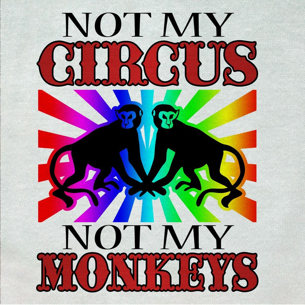 HUMOR - NOT MY CIRCUS NOT MY MONKEYS FUNNY GRAPHIC SHIRT