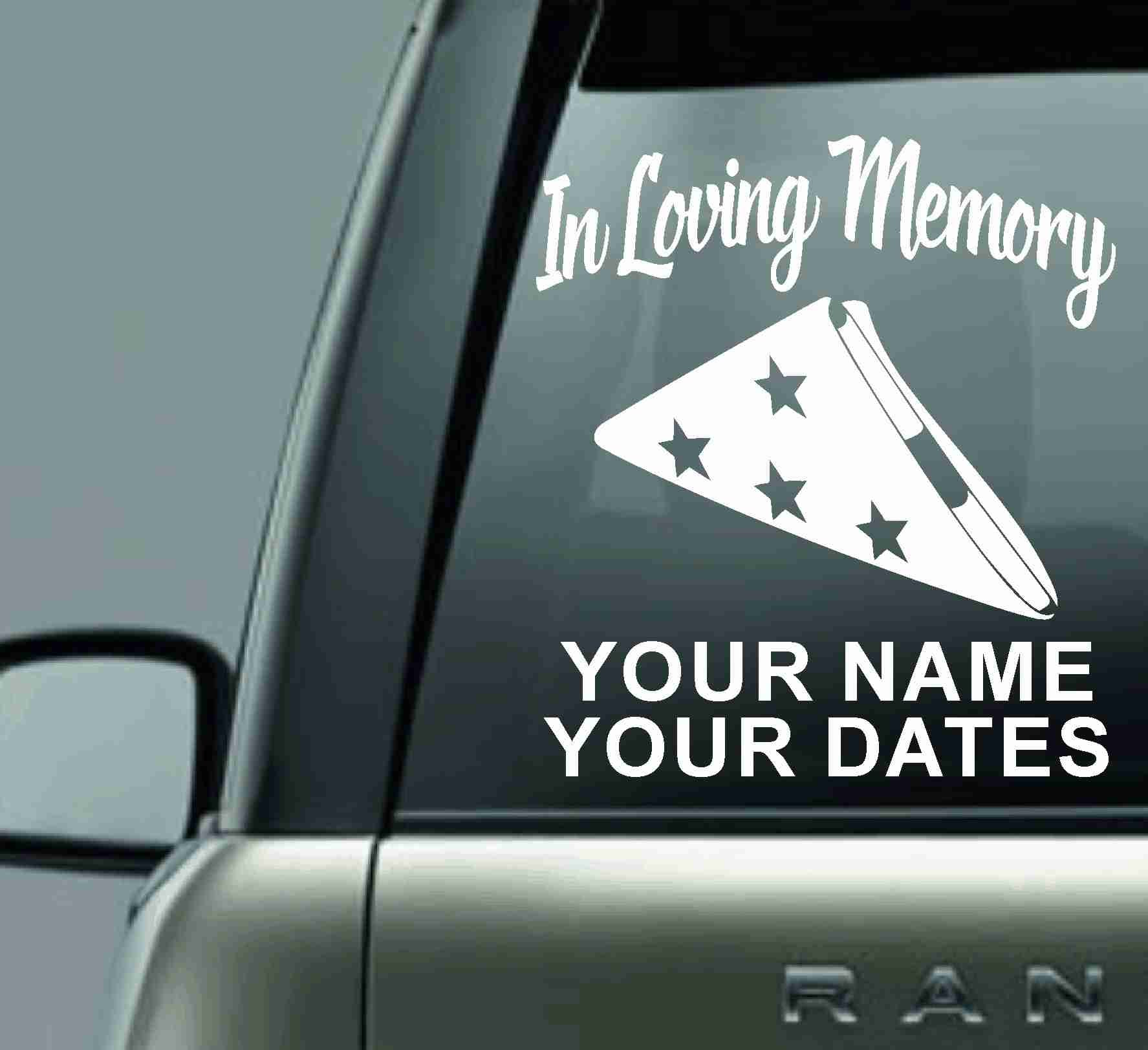 In Loving Memory Car Decals >> In Loving Memory Personalized Vinyl Car Decal Sticker