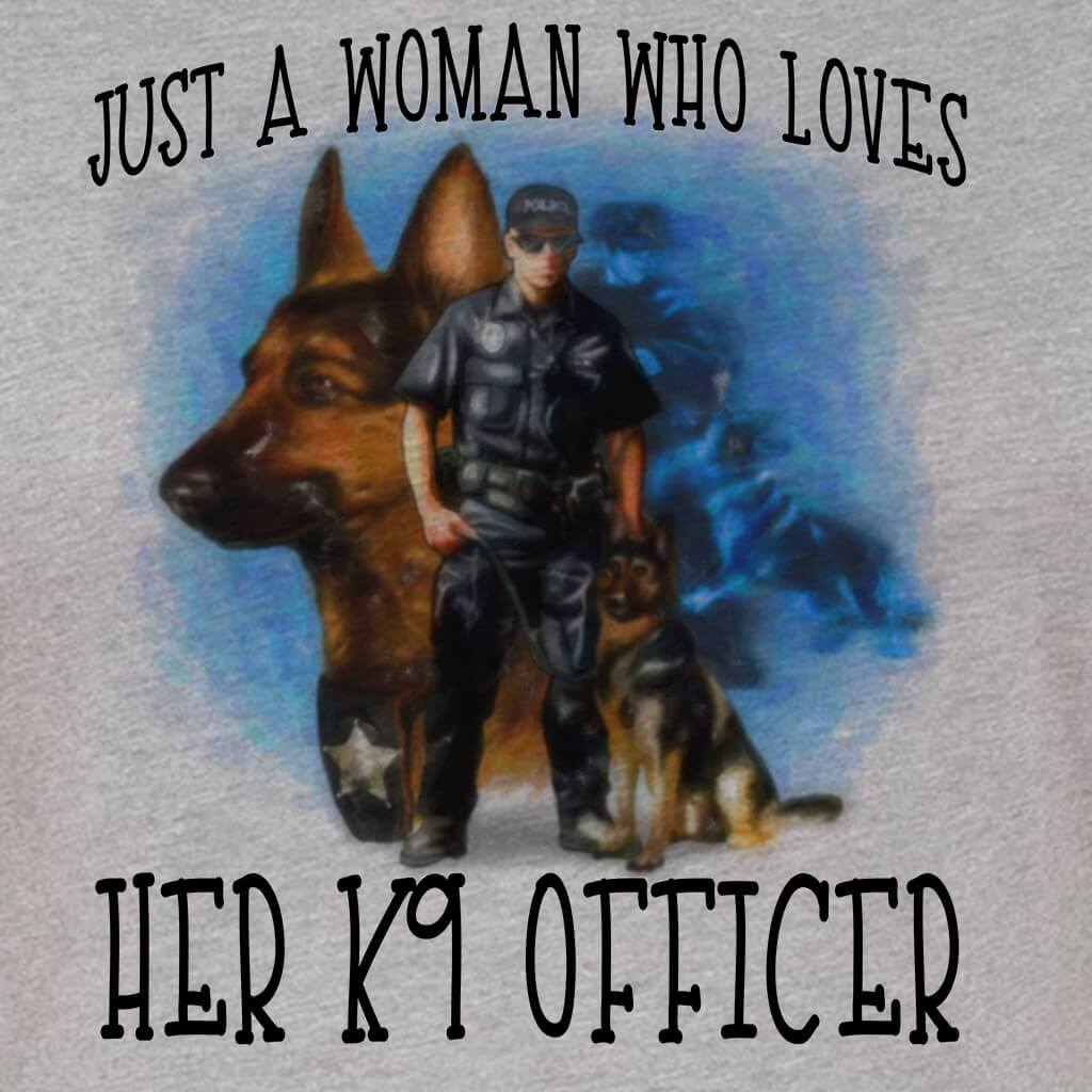 42d699ccec78f JUST A WOMAN - JUST A WOMAN WHO LOVES HER K9 Handler GRAPHIC TSHIRT TANK