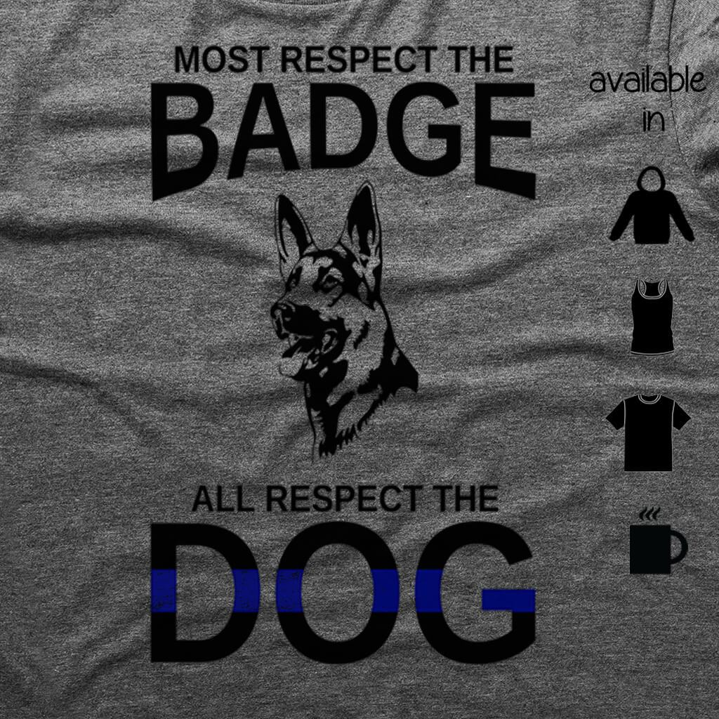 CUSTOM ALL RESPECT THE DOG SHIRT