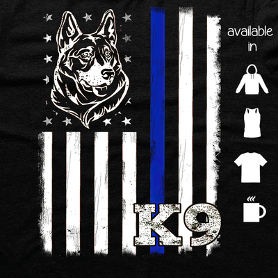 K9 - K9 BLUE LINE FLAG SHIRT