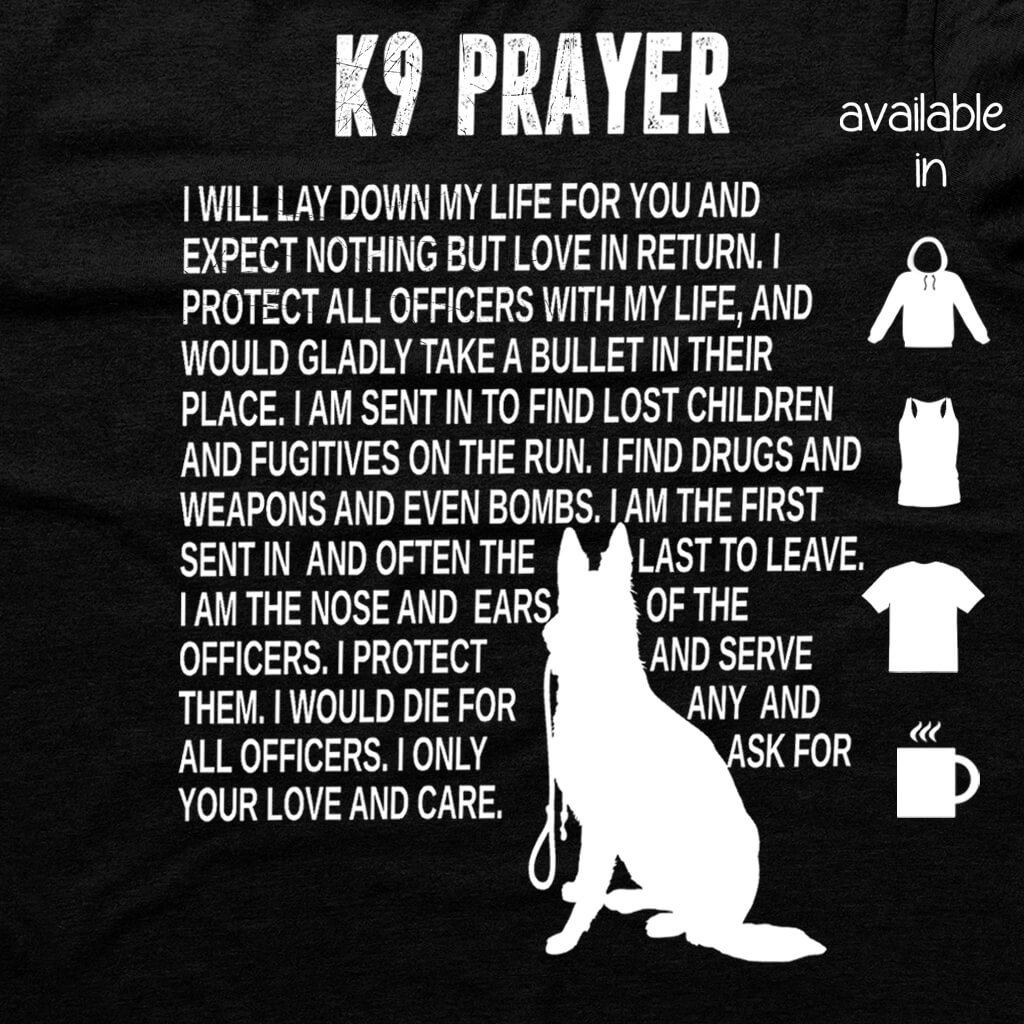 K9 - K9 PRAYER SUPPORT SHIRT