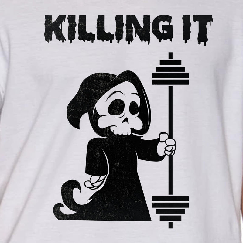 KILLING IT GRIM REAPER HALLOWEEN WORKOUT SHIRT