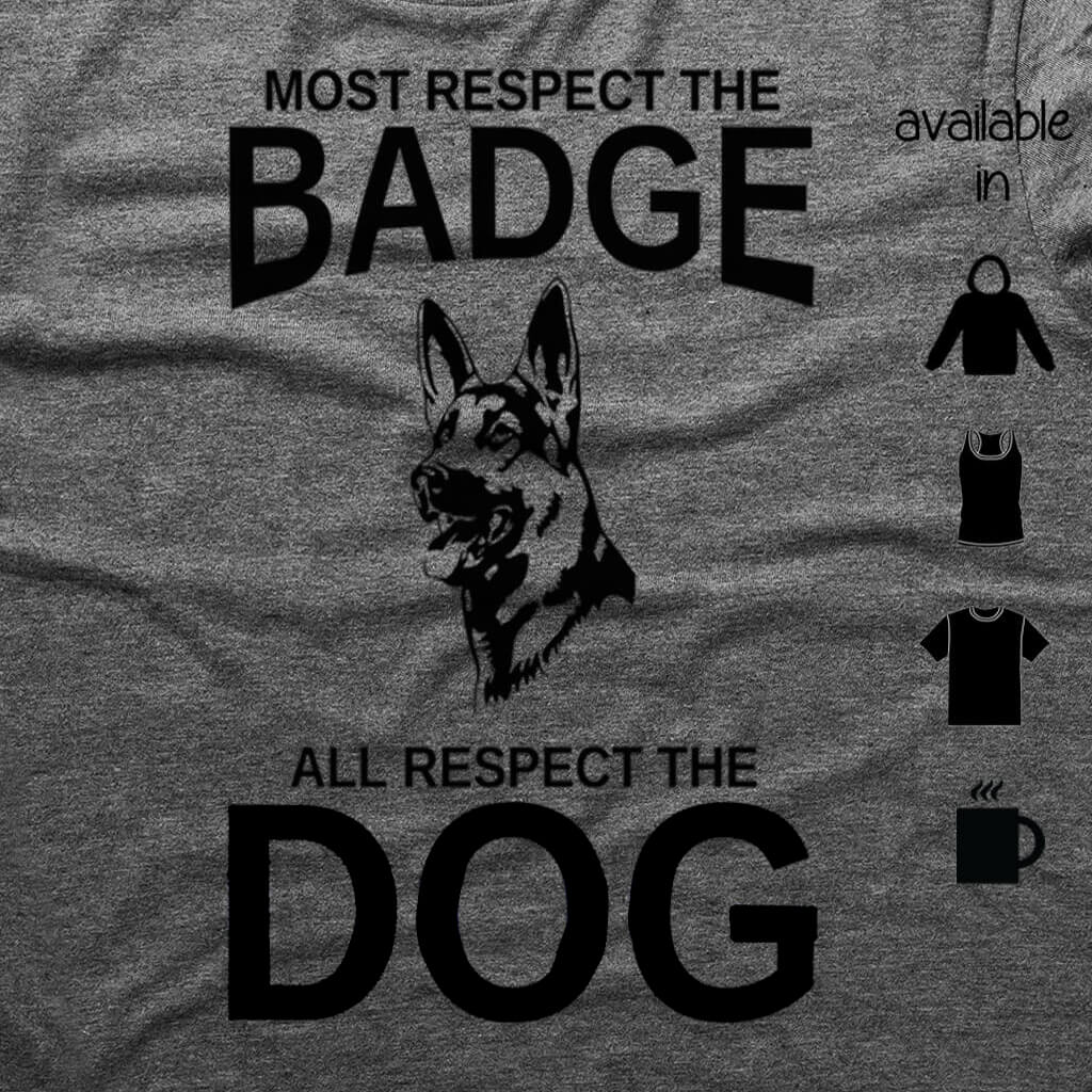 ALL RESPECT THE DOG SHIRT