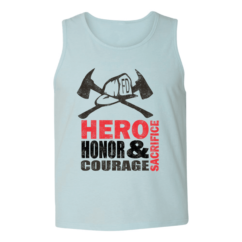 Mens Tank Tops - FIRE HERO HONOR COURAGE MENS TANK TOP