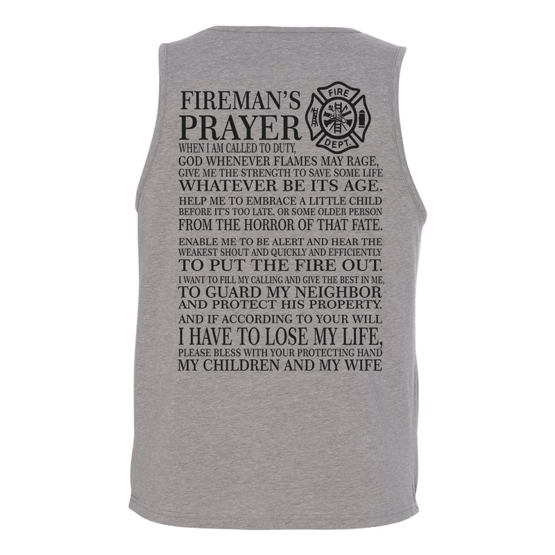 Mens Tank Tops - FIRE PRAYER MENS TANK TOP