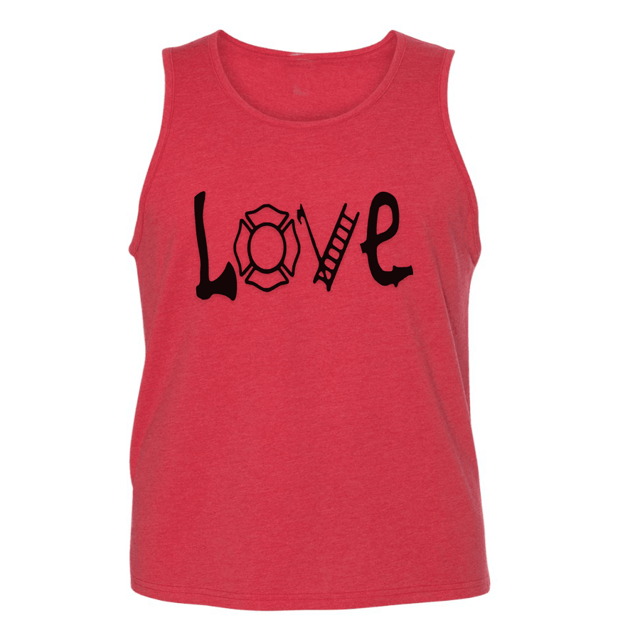 Mens Tank Tops - FIREFIGHTER LOVE MENS TANK TOP