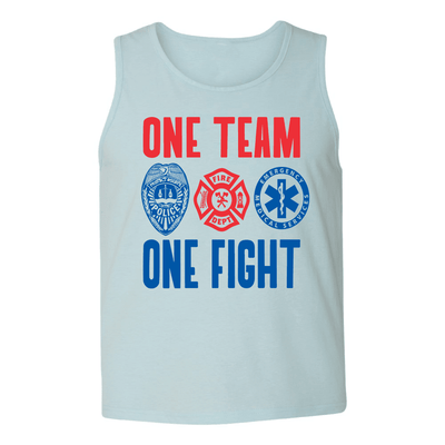 a3afeeb435526 ONE TEAM ONE FIGHT MENS TANK TOP - Barbells and Handcuffs