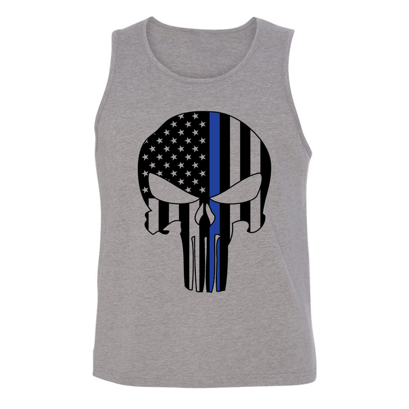 CUSTOM FLAG SKULL MENS TANK TOP