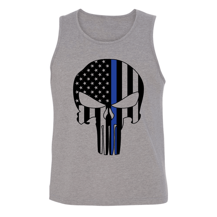 Mens Tank Tops - PATRIOTIC SKULL MENS TANK TOP