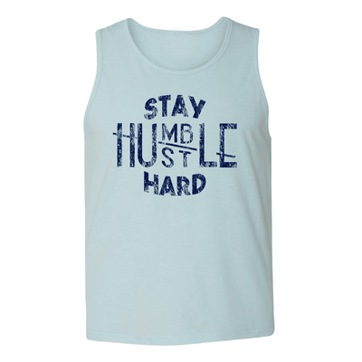 Mens Tank Tops - STAY HUMBLE - HUSTLE HARD MENS TANK TOP
