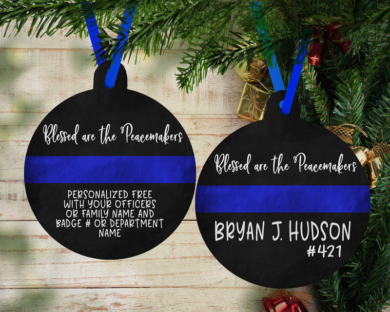CUSTOM BLESSED ARE THE PEACEMAKERS HOLIDAY ORNAMENT