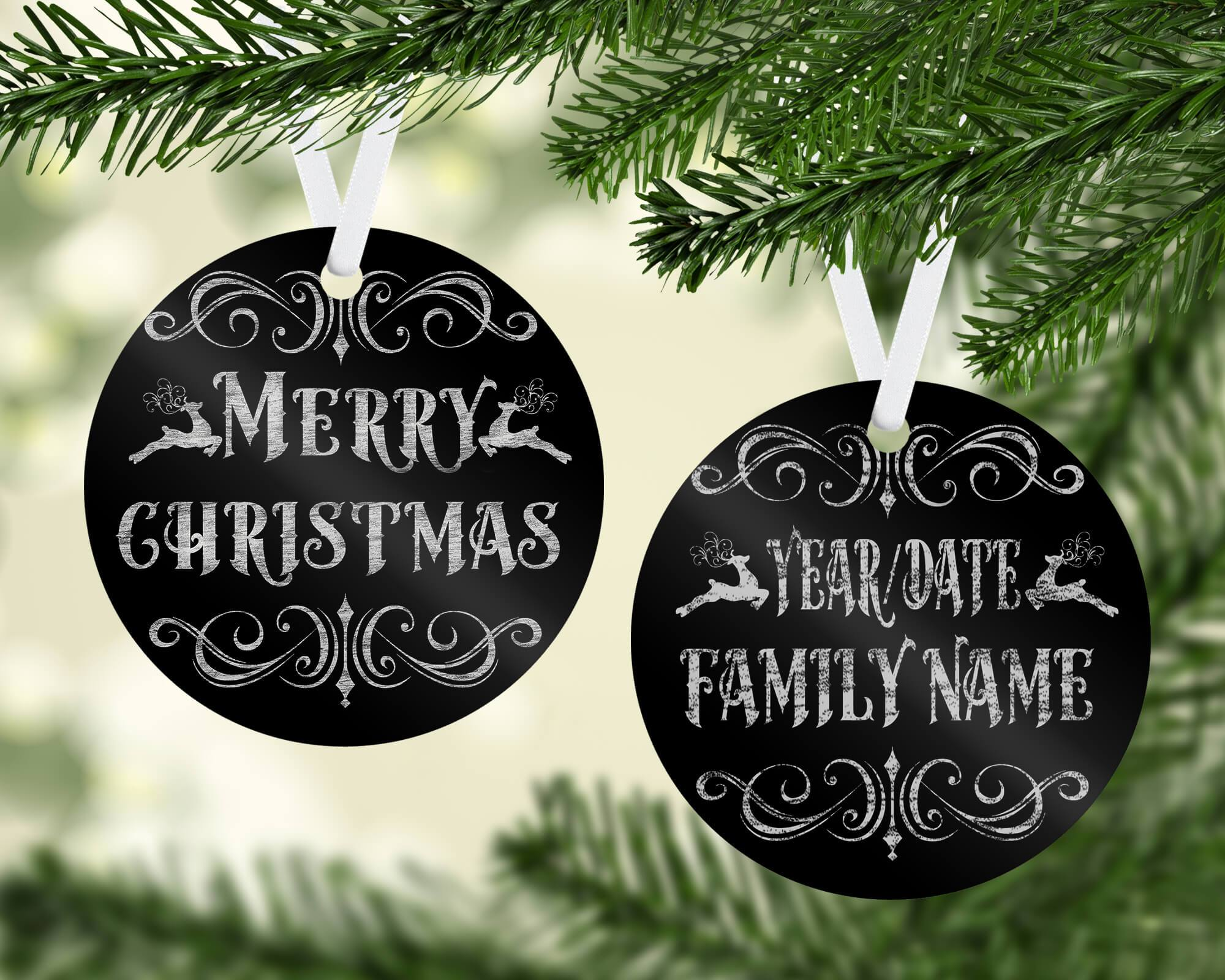 PERSONALIZED CHRISTMAS CHALKBOARD ORNAMENT