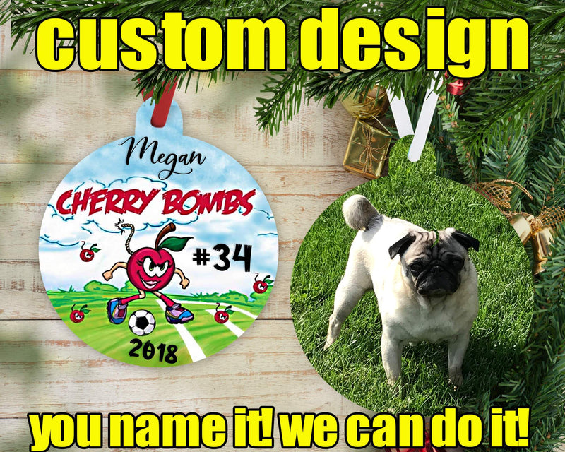 CUSTOM PHOTO HOLIDAY ORNAMENT