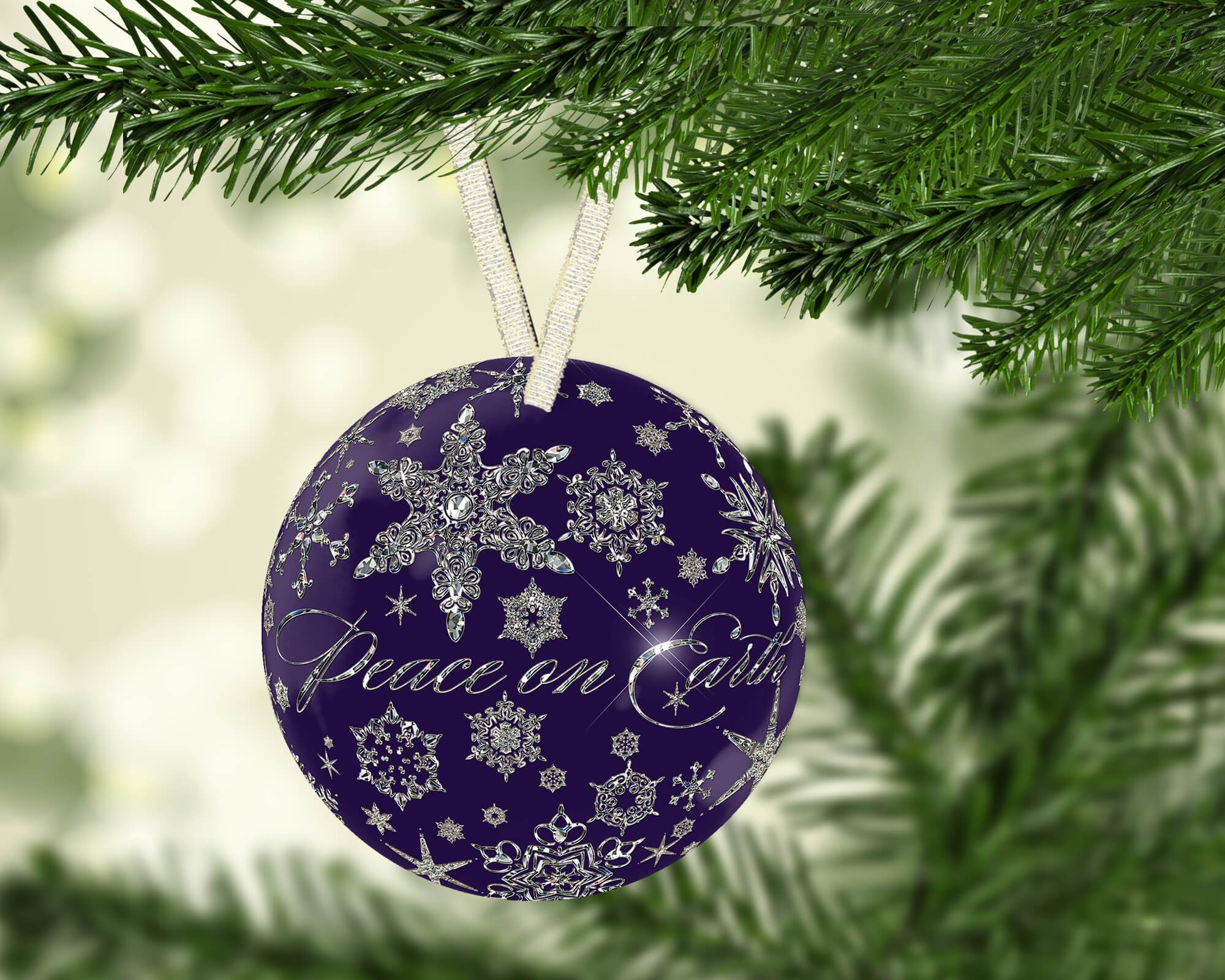 Peace Christmas Ornament.Peace On Earth Holiday Ornament