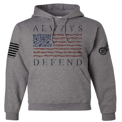 Patriotic Design - ALWAYS DEFEND VETERAN/MILITARY USA SUPPORT SHIRT