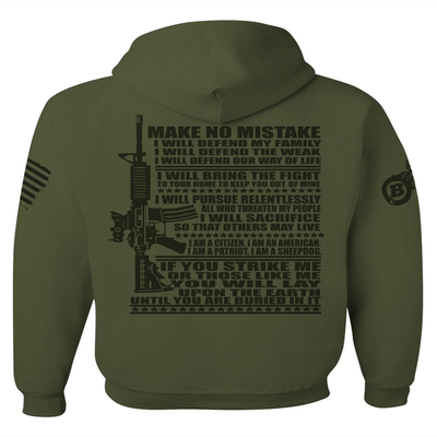 Patriotic Design - DEFEND MY FAMILY, FAITH AND COUNTRY GRAPHIC SHIRT