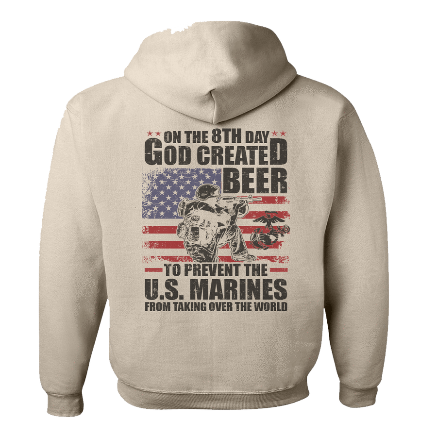 Patriotic Design - ON THE 8TH DAY MARINE GRAPHIC SHIRT