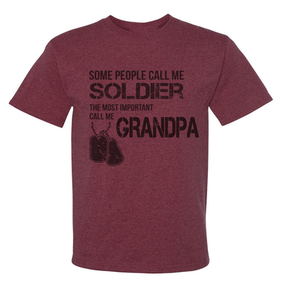 Patriotic Design - PERSONALIZED MILITARY MOM/DAD/GRANDPA SHIRT