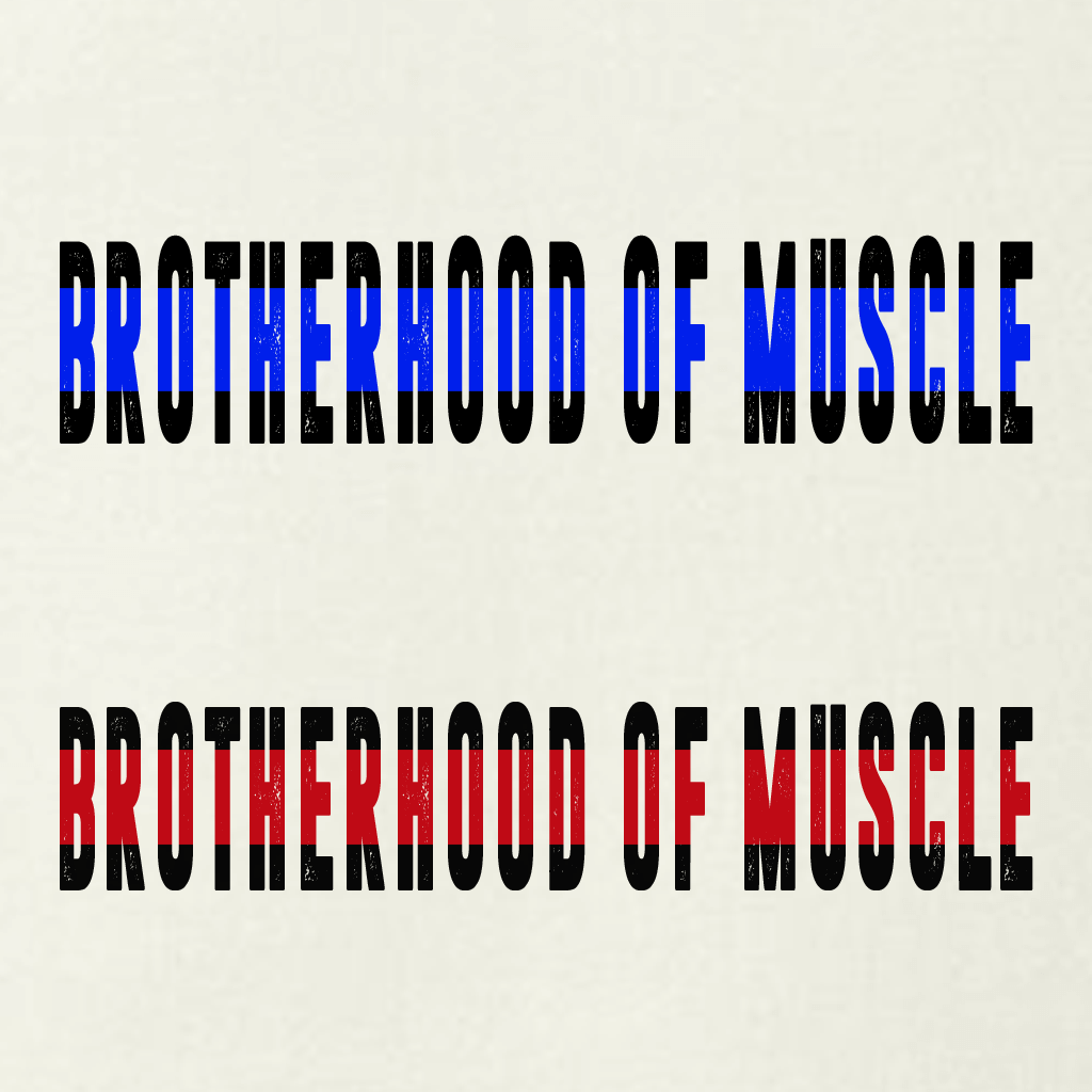 BROTHERHOOD OF MUSCLE POLICE/FIRE GRAPHIC SHIRT