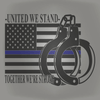 POLICE Design - UNITED WE STAND POLICE SUPPORT SHIRT