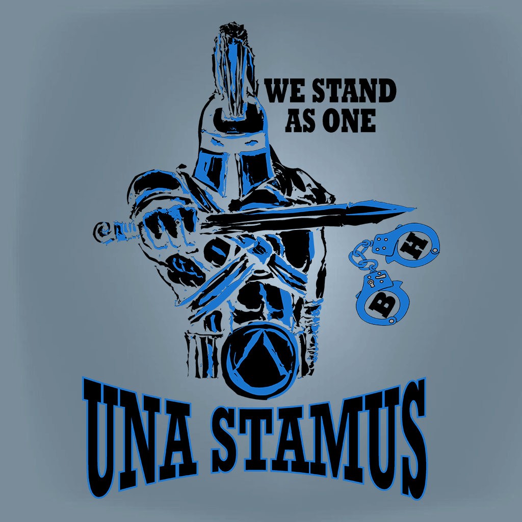POLICE Design - WE STAND AS ONE POLICE SUPPORT SHIRT