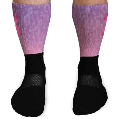 SOCKS - BREAST CANCER SUPPORT ATHLETIC OR COMPRESSION SOCKS