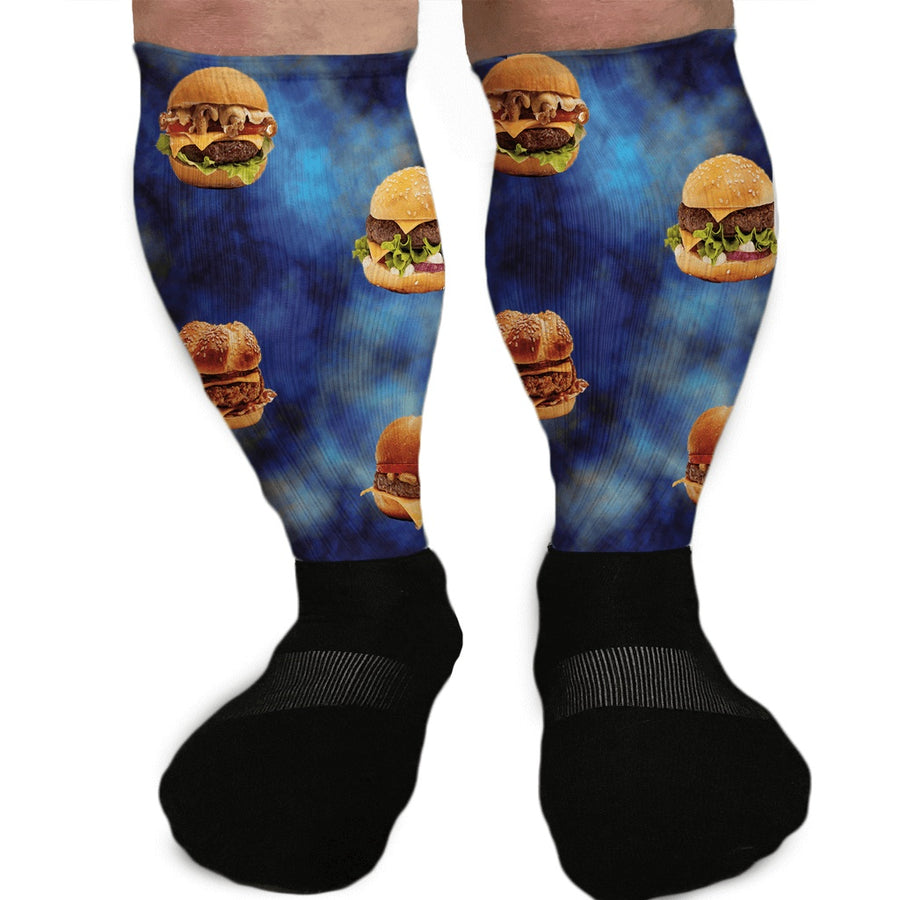 BURGER BONANZA CHEESEBURGER GRAPHIC ATHLETIC OR COMPRESSION SOCKS