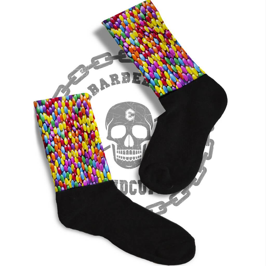 ac16168299 SOCKS - COLORED CHOCOLATE CANDIES FUNNY ATHLETIC OR COMPRESSION SOCKS