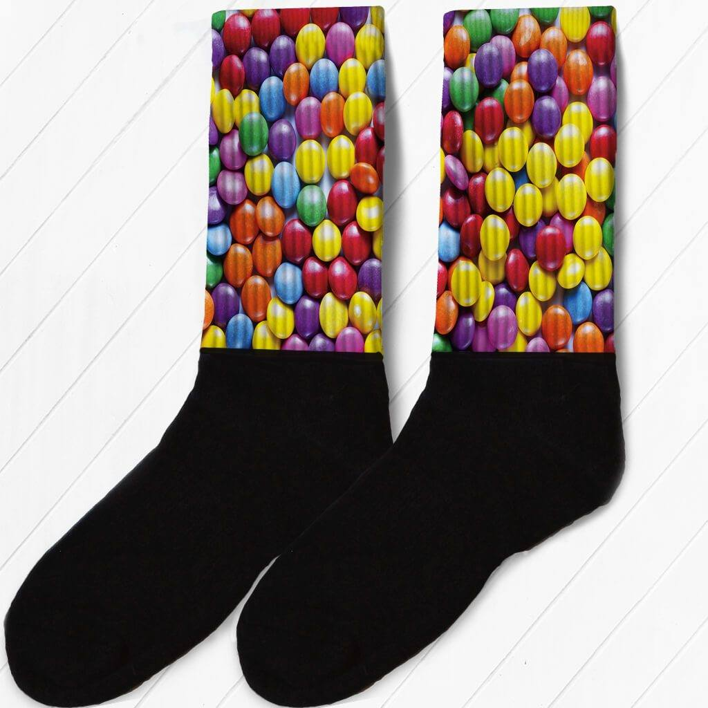 SOCKS - COLORED CHOCOLATE CANDIES FUNNY ATHLETIC OR COMPRESSION SOCKS