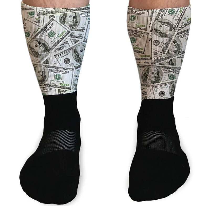 SOCKS - EASY MONEY $$ GRAPHIC ATHLETIC OR COMPRESSION SOCKS