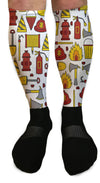 SOCKS - FLAMES AND FIRE FIREFIGHTER ATHLETIC OR COMPRESSION SOCKS