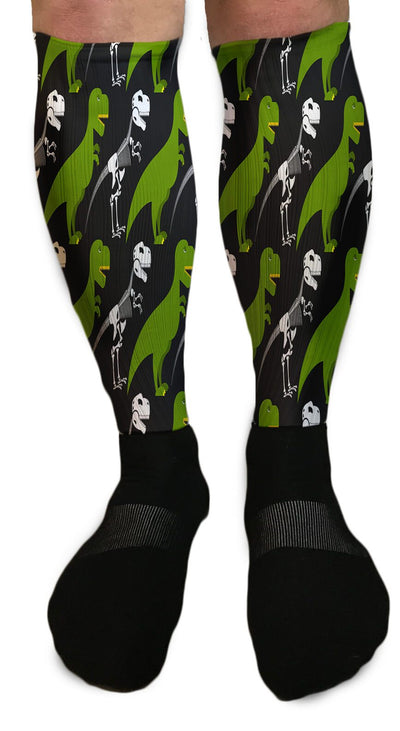 SOCKS - FUNNY T-REX DINOSAUR ATHLETIC OR COMPRESSION SOCKS
