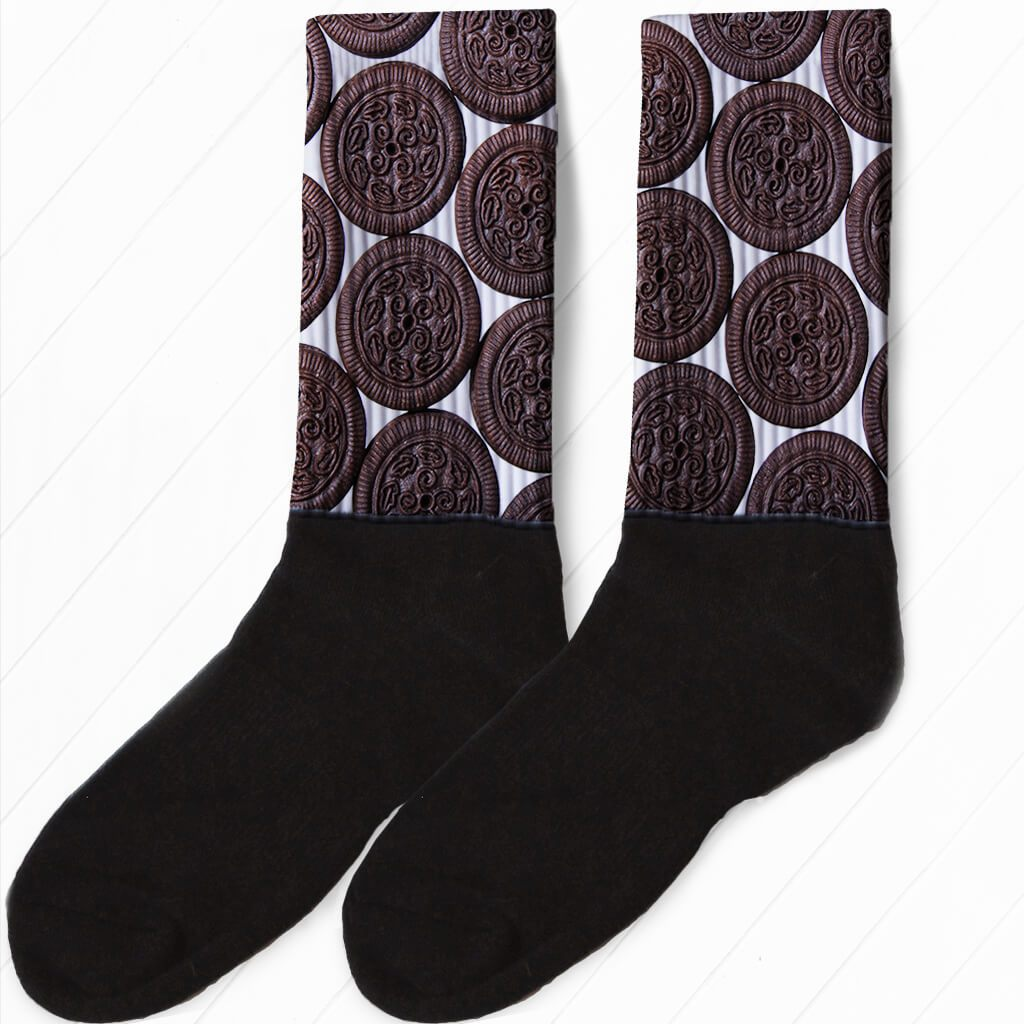 SOCKS - GOT MILK? SANDWICH COOKIE ATHLETIC OR COMPRESSION SOCKS