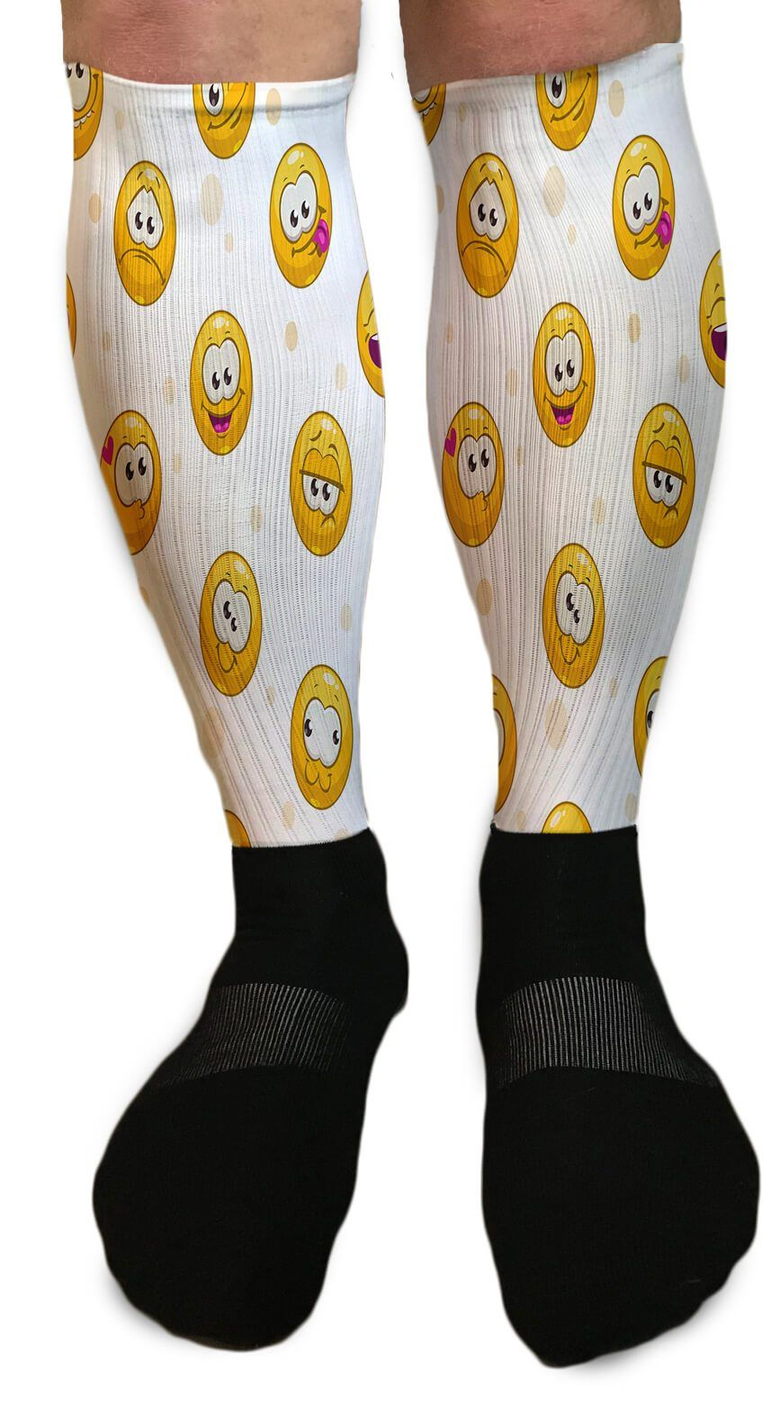 JUST BE HAPPY SMILEY FACE ATHLETIC OR COMPRESSION SOCKS