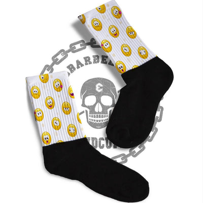SOCKS - JUST BE HAPPY SMILEY FACE ATHLETIC OR COMPRESSION SOCKS